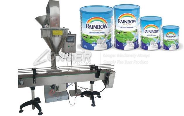 Cup Milk Powder Filling Packaging Machine Drum Powder